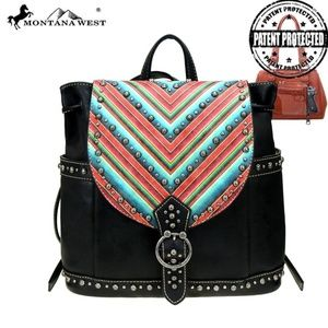 Montana West Backpack Concealed Carry Aztec Bag